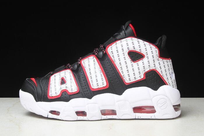 """premium selection a5eed fdf68 Nike Air More Uptempo """"Pinstripe"""" Black White-University Red AV7947-001"""
