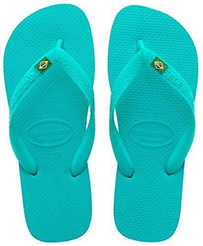 Unisex Adults/' Flip Flop Flip Flops Naval blue Havaianas Brasil Logo 43//44