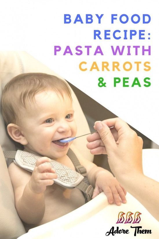 Baby Food Recipe: Pasta with Carrots and Peas --
