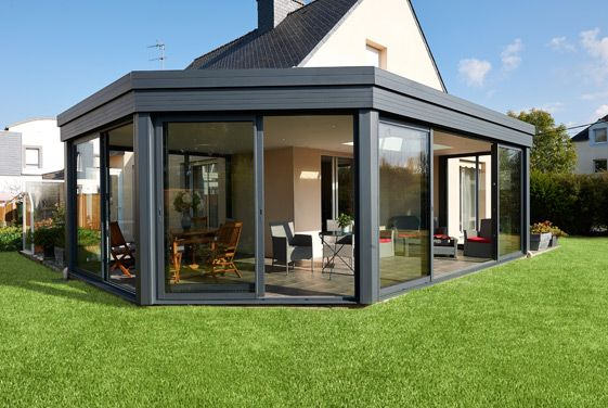 extension de maison toit plat r alisation fillonneau fen tre pinterest verandas and. Black Bedroom Furniture Sets. Home Design Ideas