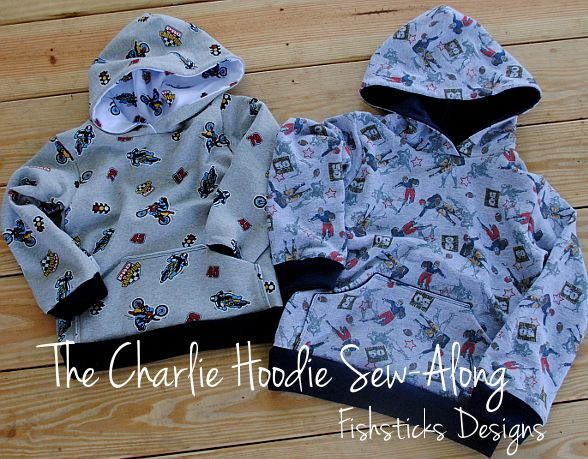 The Charlie Hoodie Sew-Along Day 1 | Fishsticks Designs Blog | Make ...