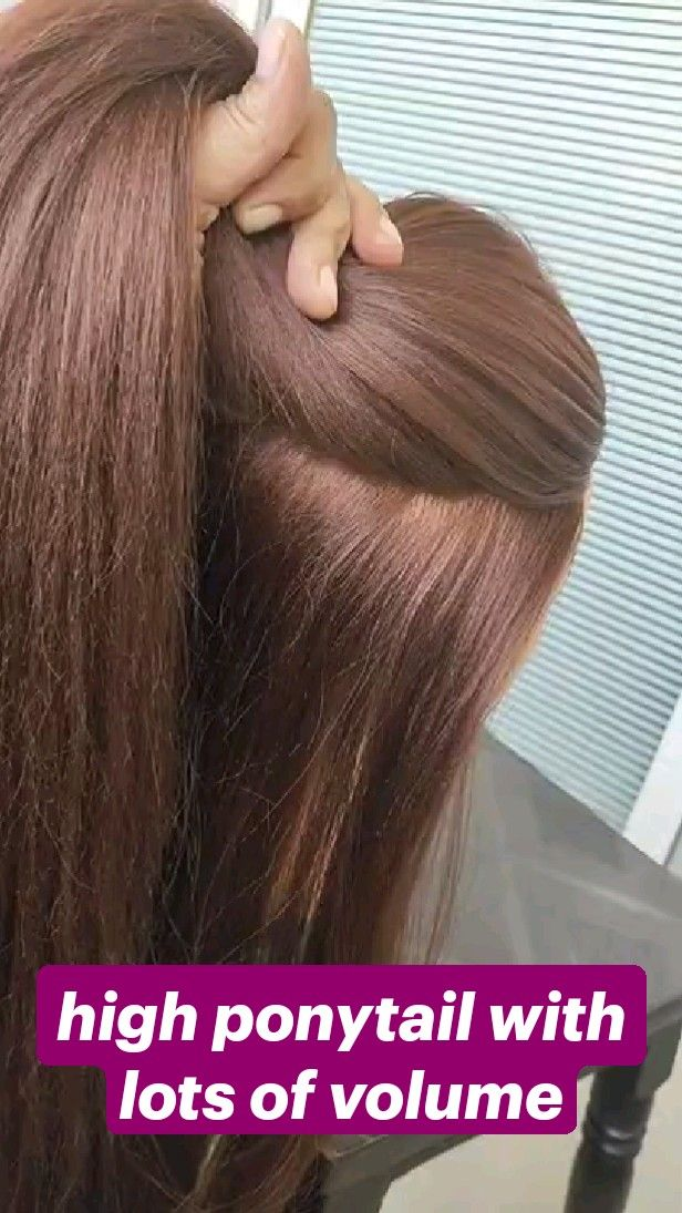 high ponytail with lots of volume