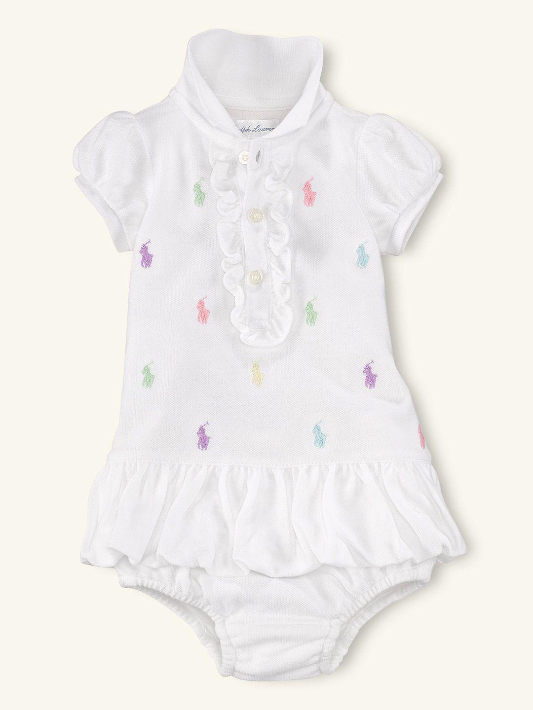 f125dee4 Schiffli Mesh Polo Dress - Dresses & Rompers Layette Girl (Newborn–9M) -  RalphLauren.com