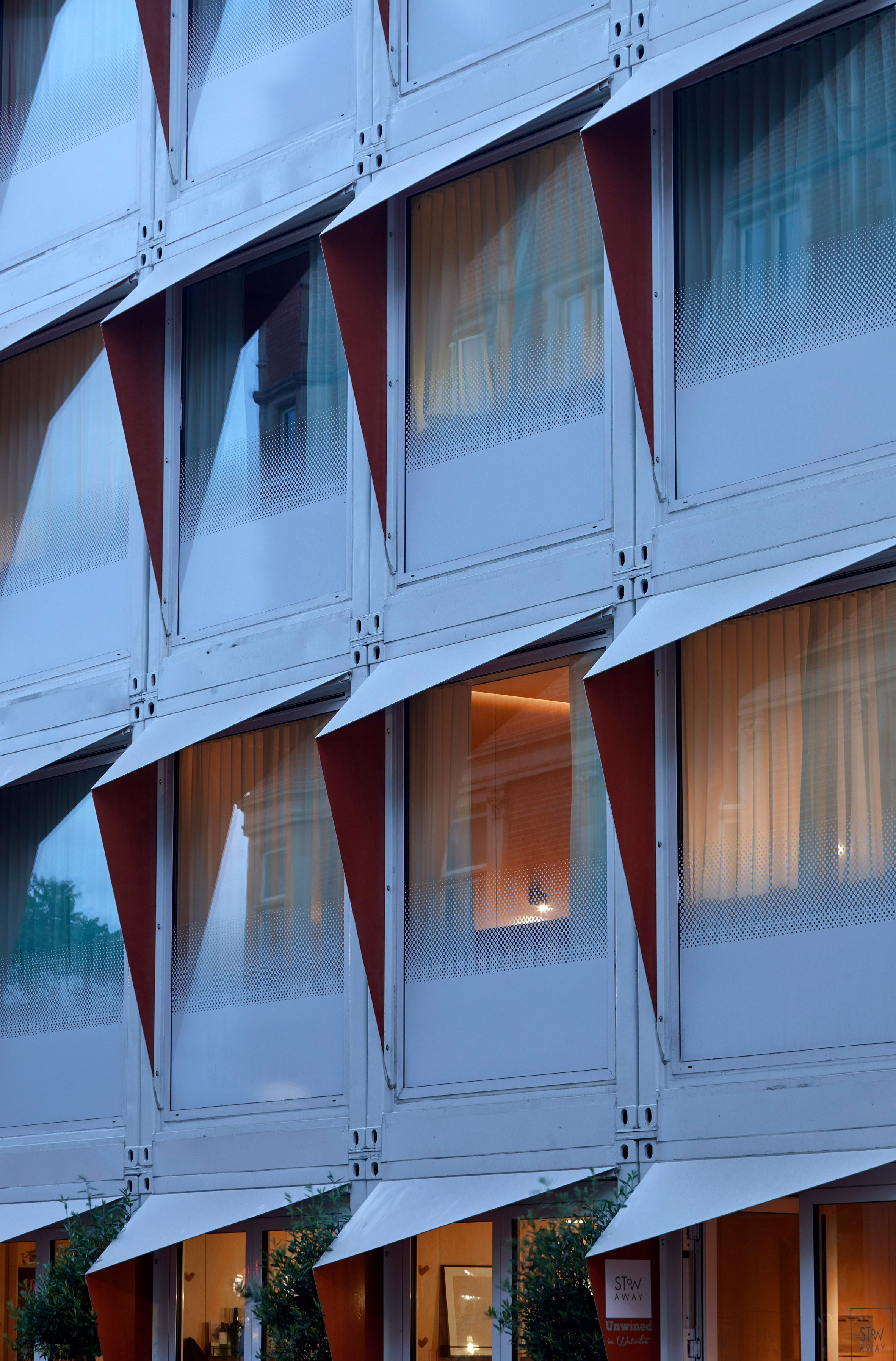 Stow-Away London hotel is made from stacked shipping ...
