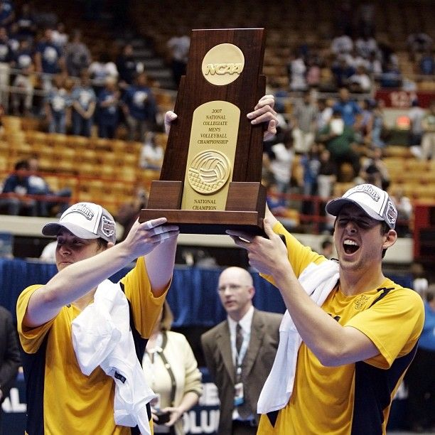Uci Men S Volleyball 2006 07 Ncaa Championship Trophy Mens Volleyball Ncaa Championship Men