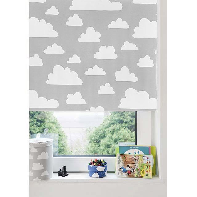 the modern baby farg form moln clouds blackout roller blind greywhite - Blackout Shades Baby Room