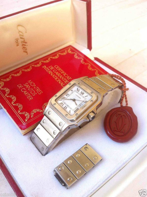 GENUINE CARTIER SANTOS AUTOMATIC+DATE, MEN'S WATCH