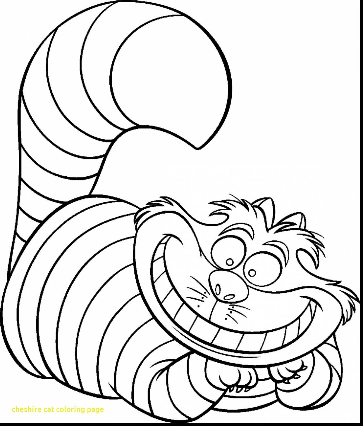 Cheshire Cat Coloring Page With Astounding Alice Wonderland ...
