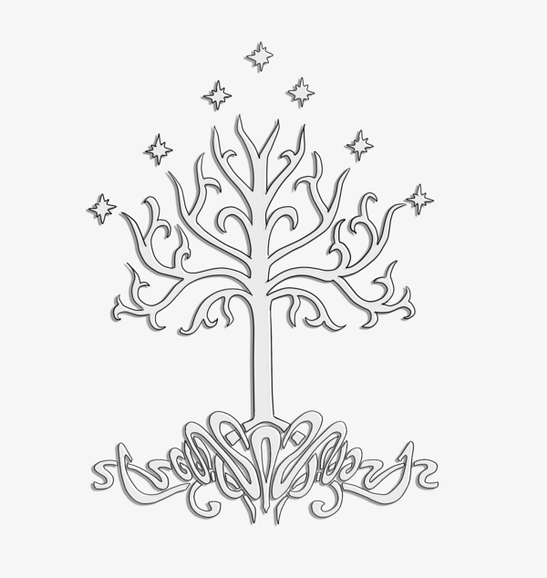 Tree of gondor - clipart with a transparent background