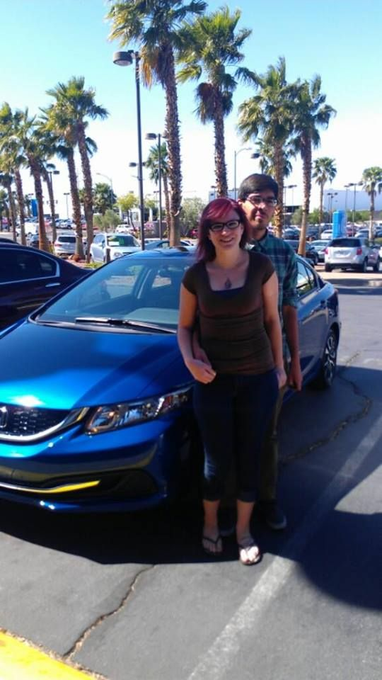 Matthew and Amanda bought this lovely blue Honda.