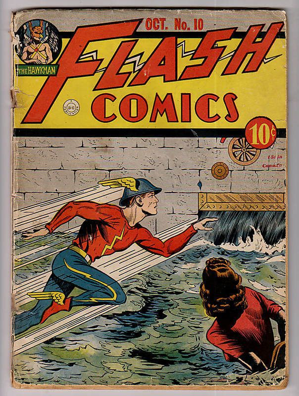 Flash Comics #10, Oct. 1940.