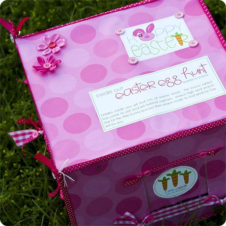 I love this idea an easter egg hunt in a box a great gift to an easter egg hunt in a box a great gift to send to friends and family far away negle Gallery