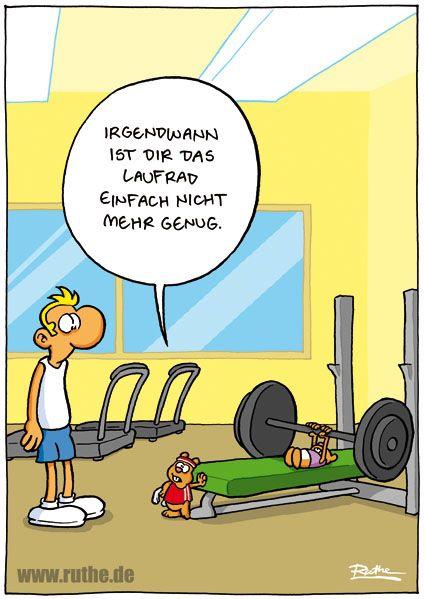 Lustige Comic Bilder Fitness
