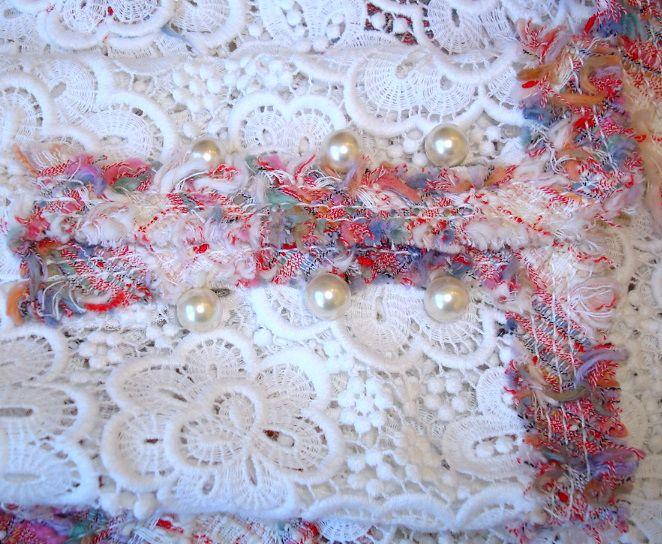 chanel white lace suit