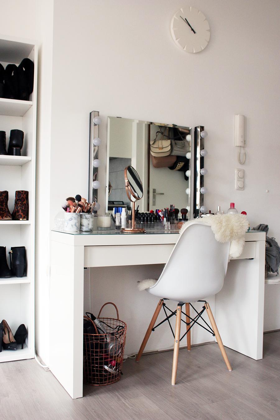 Interior updated makeup vanity tour inspire pinterest