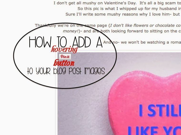 How to add a hovering PIN IT button to your blog images.