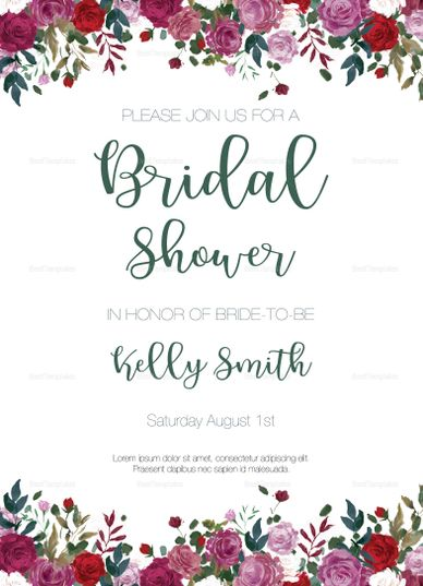 Vintage Roses Bridal Shower Invitation Template Bridal Shower Invitations Templates Wedding Shower Invitations Bridal Shower Invitations Printable