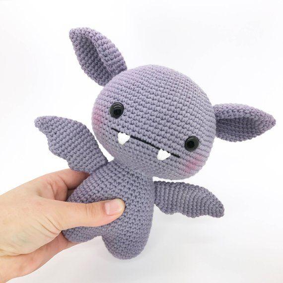 Bat amigurumi crochet PATTERN, crochet cute bat pattern, amigurumi PDF pattern, kawaii bat toy pattern, Instant download #amigurumi