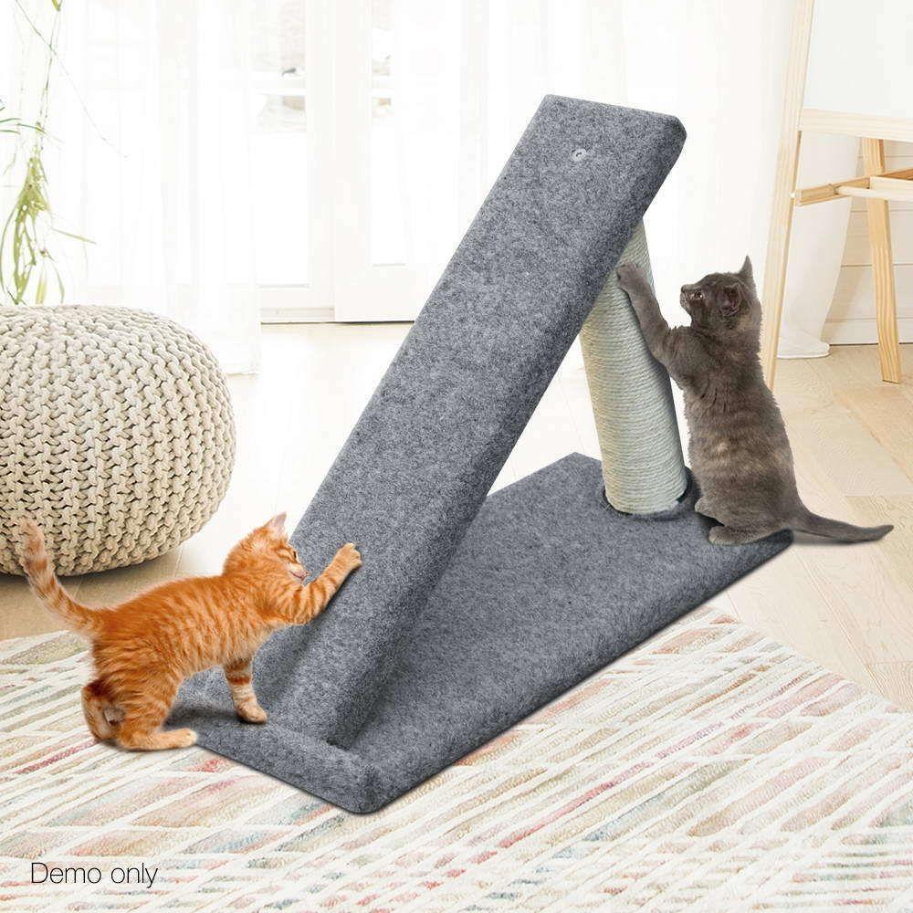 Cat Scratcher Ramp Climb Grey 40cm Tall Pet Tree Tower