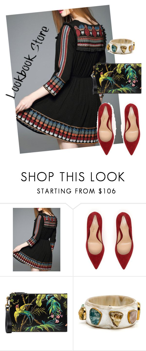 """""""dress"""" by masayuki4499 ❤ liked on Polyvore featuring Gianvito Rossi and Gucci"""