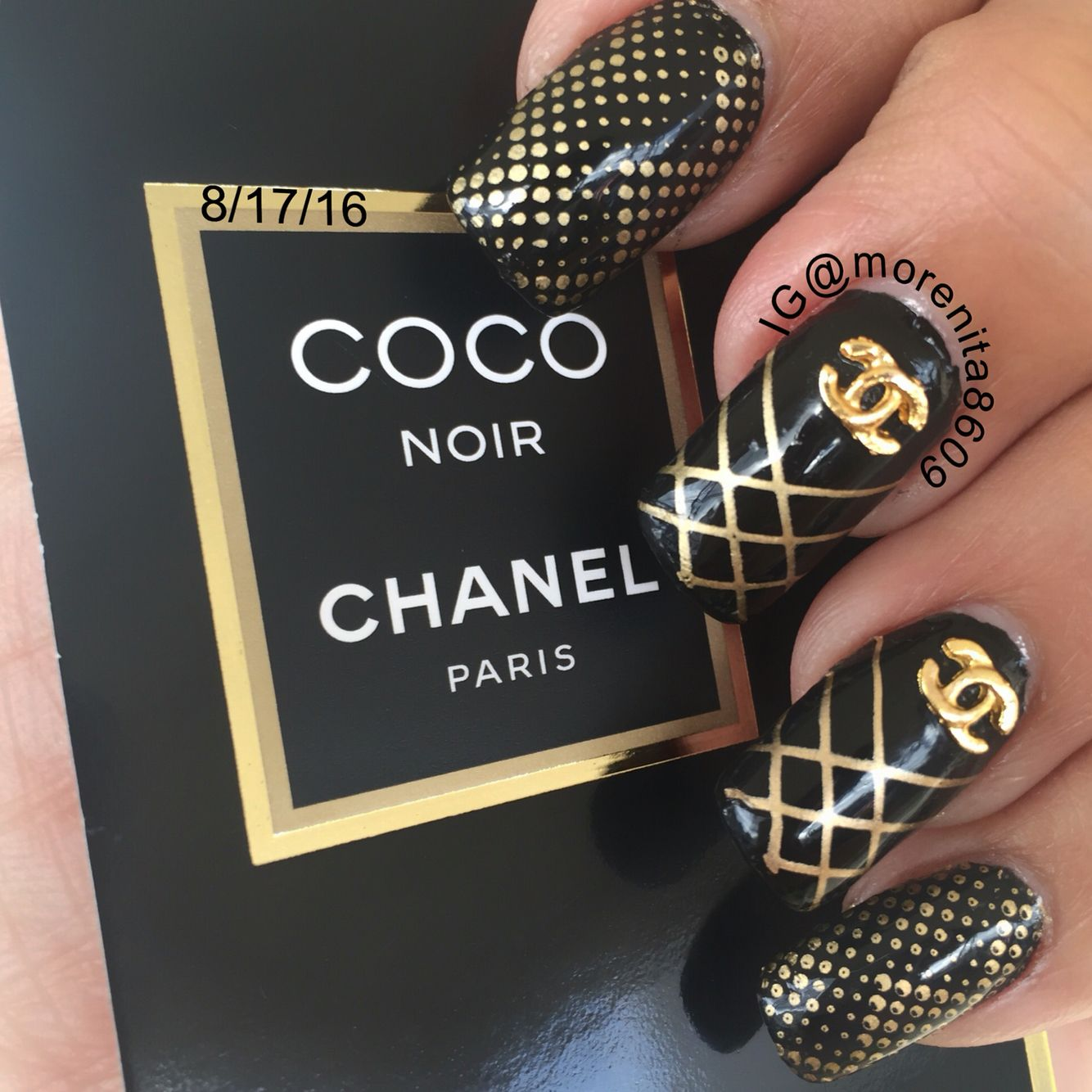 Nails Inspired By Chanel Chanelnails Couture Nailart Nails