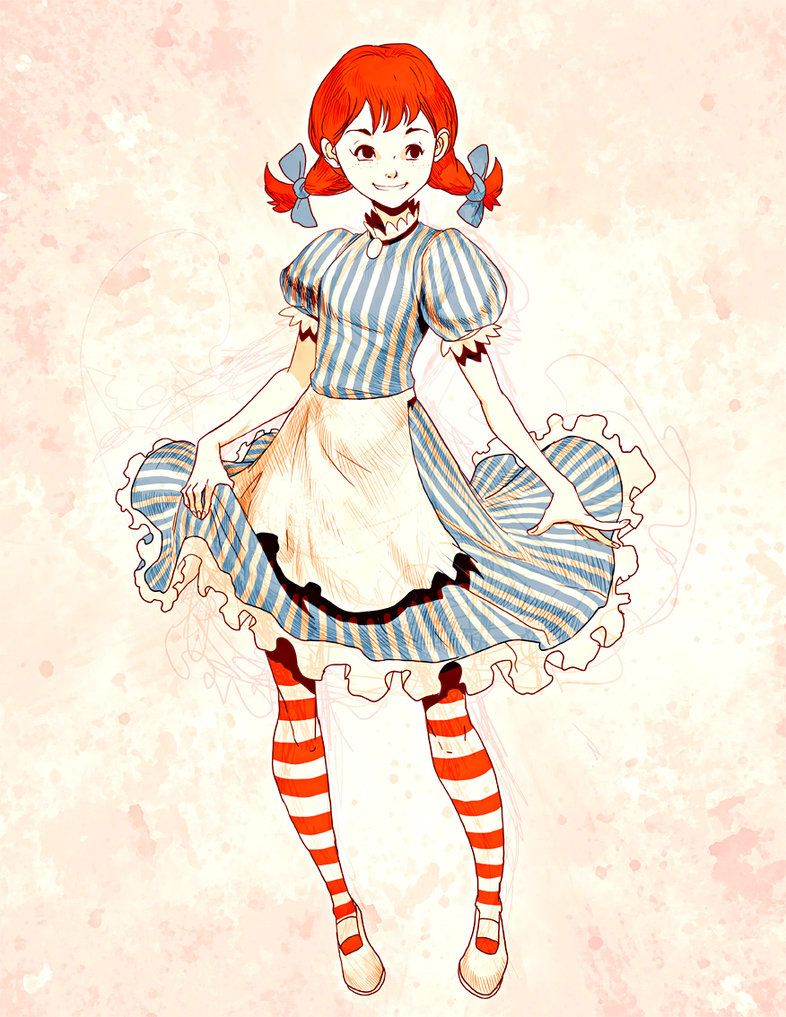 Fans Wont Stop Drawing Wendys Mascot As A Smug Anime Girl