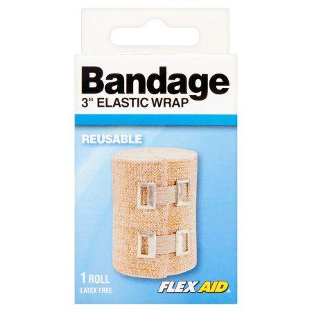 Flex Aid 3 Inch Elastic Wrap Bandage 1 Roll Bandage Elastic Wrap