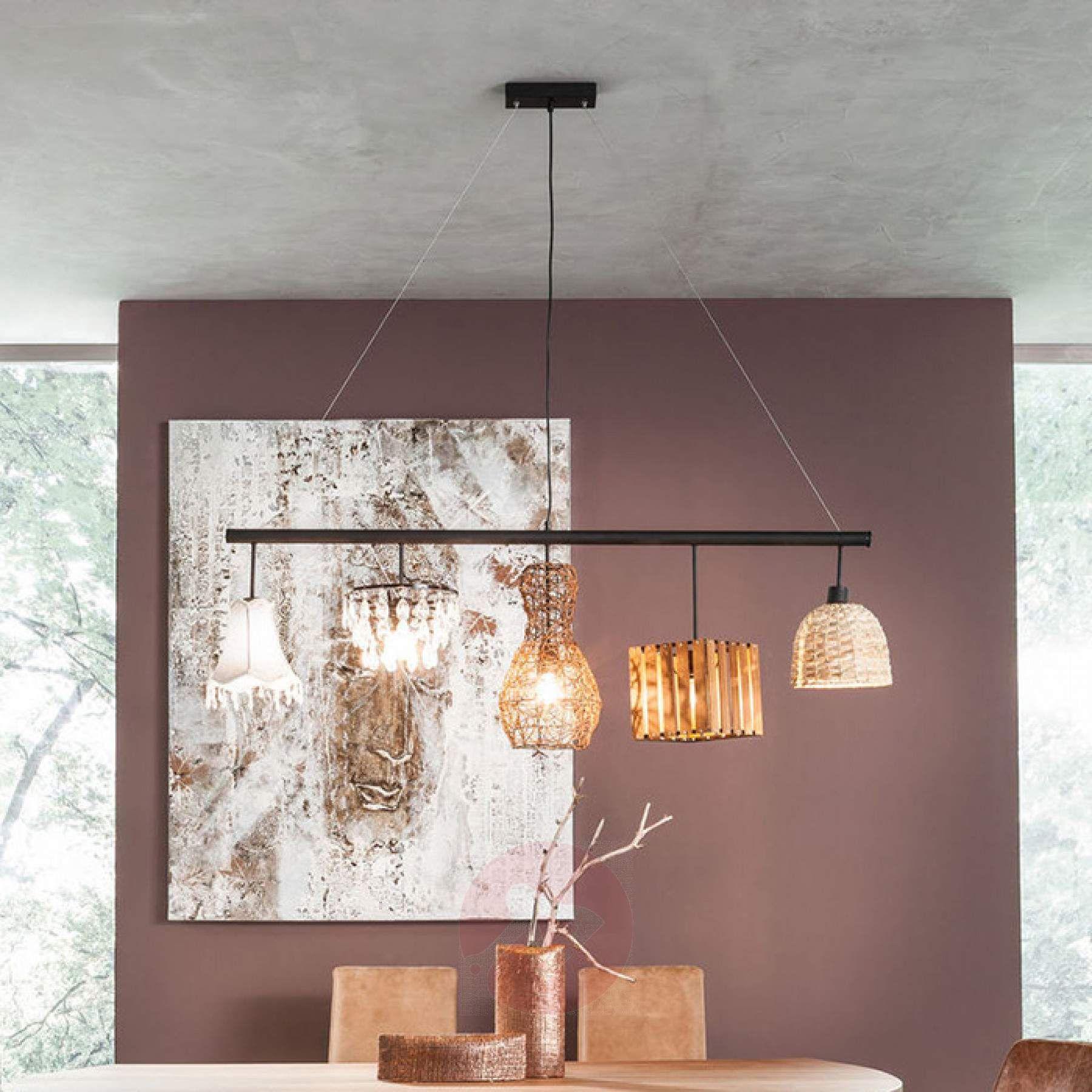 man muss sich nicht immer fr einen stil entscheiden balkenpendelleuchte parecchi art house mit fnf - Fantastisch Tolles Dekoration Lampe Mit Mehreren Schirmen