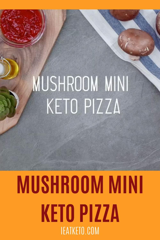 Keto Mushroom Mini Pizza