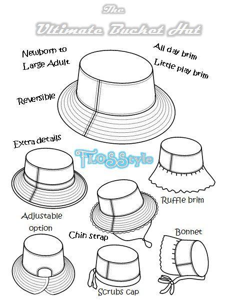 Free Bucket Hat Pdf Pattern : bucket, pattern