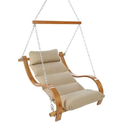 Single Cushion Patio Swing With Oak Arms Opal Sopa At The Home