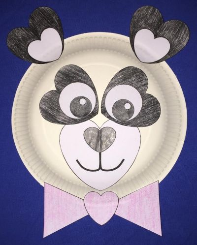 heart panda paper plate craft & heart panda paper plate craft | work projects | Pinterest | Paper ...