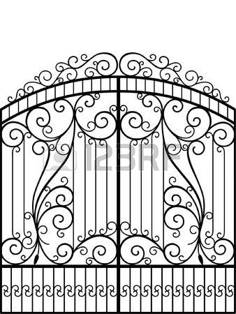 Stock photo rejas y barandas wrought iron gates iron for Estilo arquitectonico que usa adornos con plantas y animales