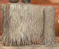 4ft X 10ft Palm Grass Tiki Thatching Roll Tiki Hut Thatch Tiki