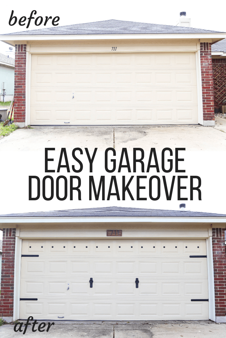 How To Give You Garage Door A Total Makeover In Just An Hour