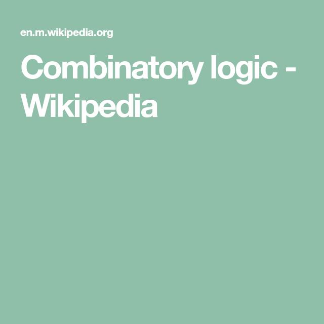 Combinatory logic Wikipedia