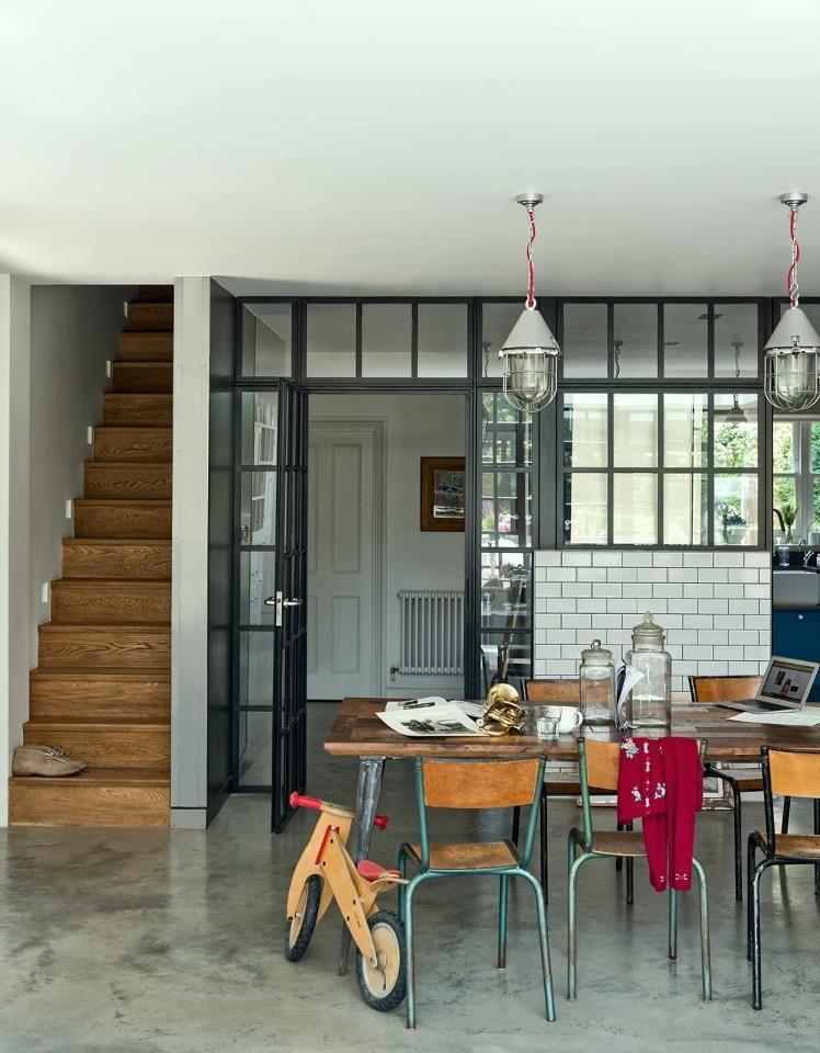 stahl glas-trennung private space Pinterest Trennung, Stahl - wohnzimmer mit glaswnde