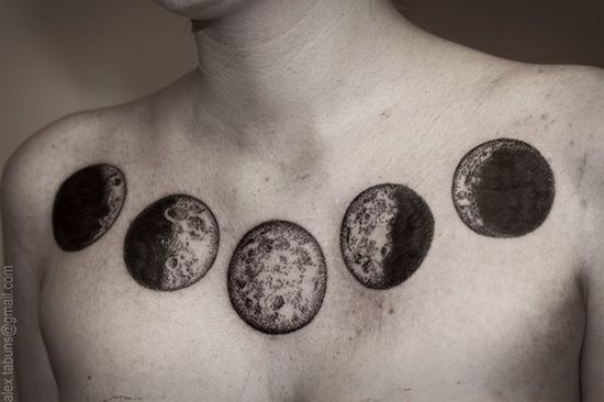 moon phase chest tattoo tattoos piercings pinterest. Black Bedroom Furniture Sets. Home Design Ideas