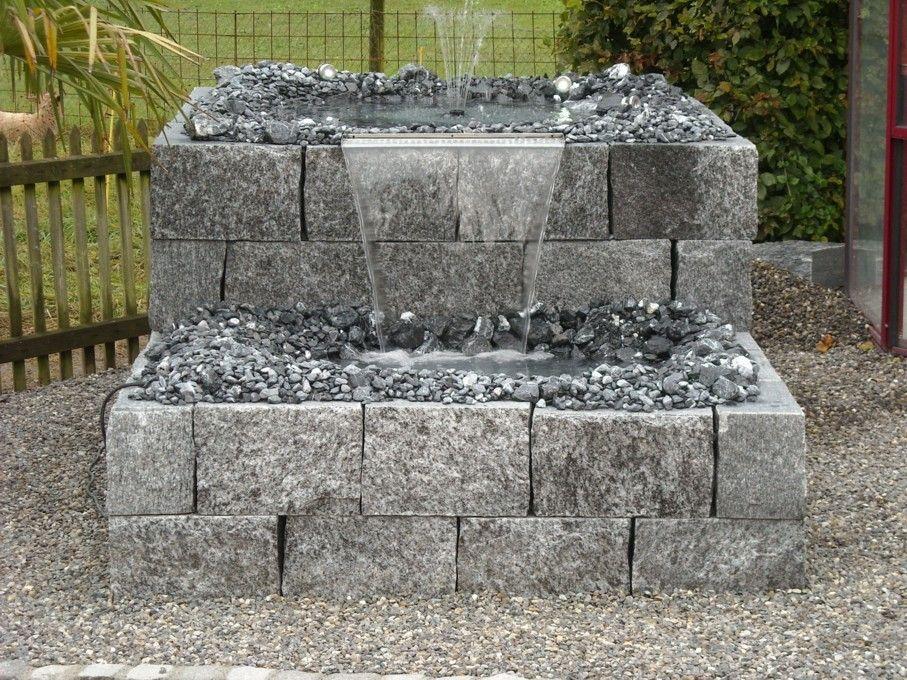 garten steinmauer wasserfall – localmenu.co, Garten Ideen