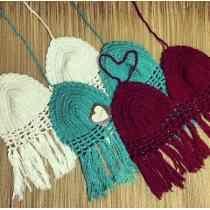 Tops de crochê com franjas #croche #crochet