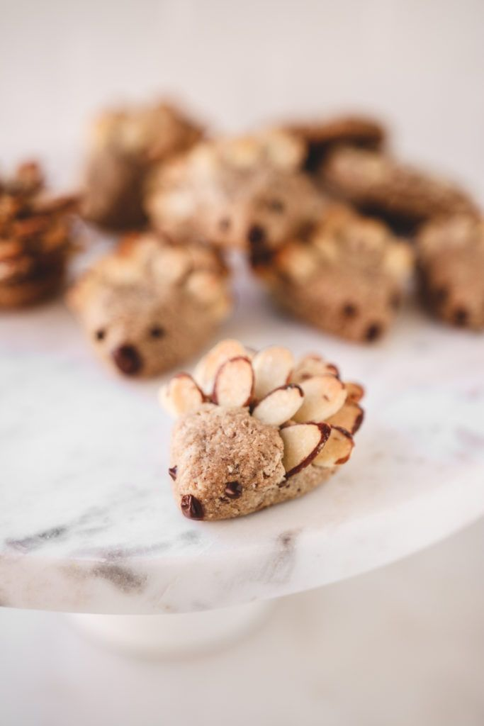 Photo of Hedgehog Almond Cookies [vegan, gluten-free, oil free] | Veggiekins Blog