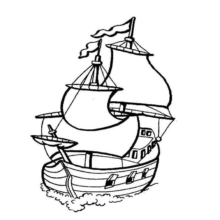 Coloriage Bateau Pirates Des Caraibes Coloriages Pinterest