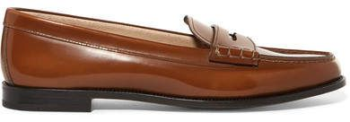 Kara Glossed-leather Loafers - Brown Churchs pxwtgVCMw5