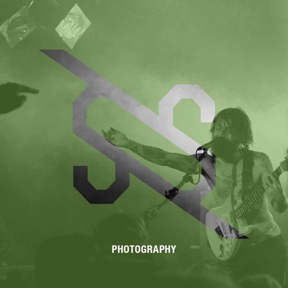 Crossroad promo for our Photography services. Logo over the top of a picture I took of Biffy Clyro, live @ The Corner, Melbourne, 2014.