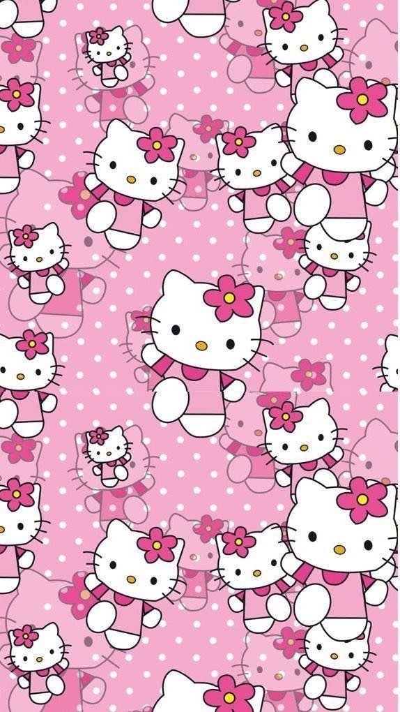Hello Kitty Lucu  hello kitty  Hello kitty backgrounds, Hello