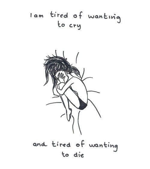 Wanting to die.
