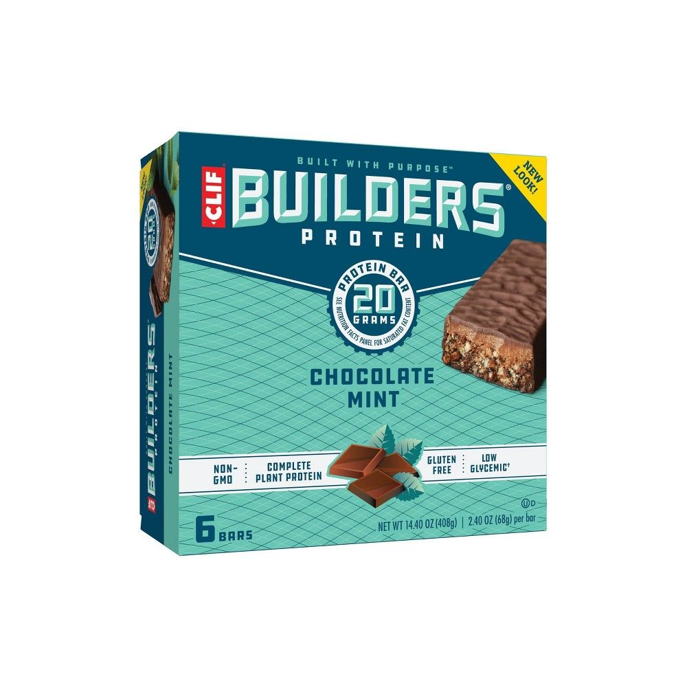 Clif Builder S Protein Bar Chocolate Mint 6ct Mint Chocolate Protein Bars Clif