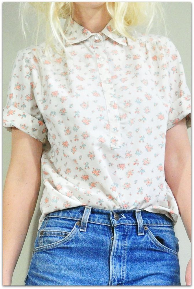 Sweet Collared Floral Blouse
