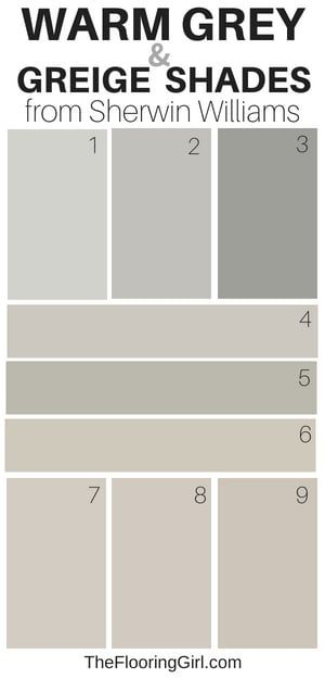 warm gray and greige paint shades from Sherwin Williams