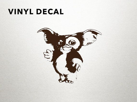 Gremlins gizmo vinyl decal by dungeons